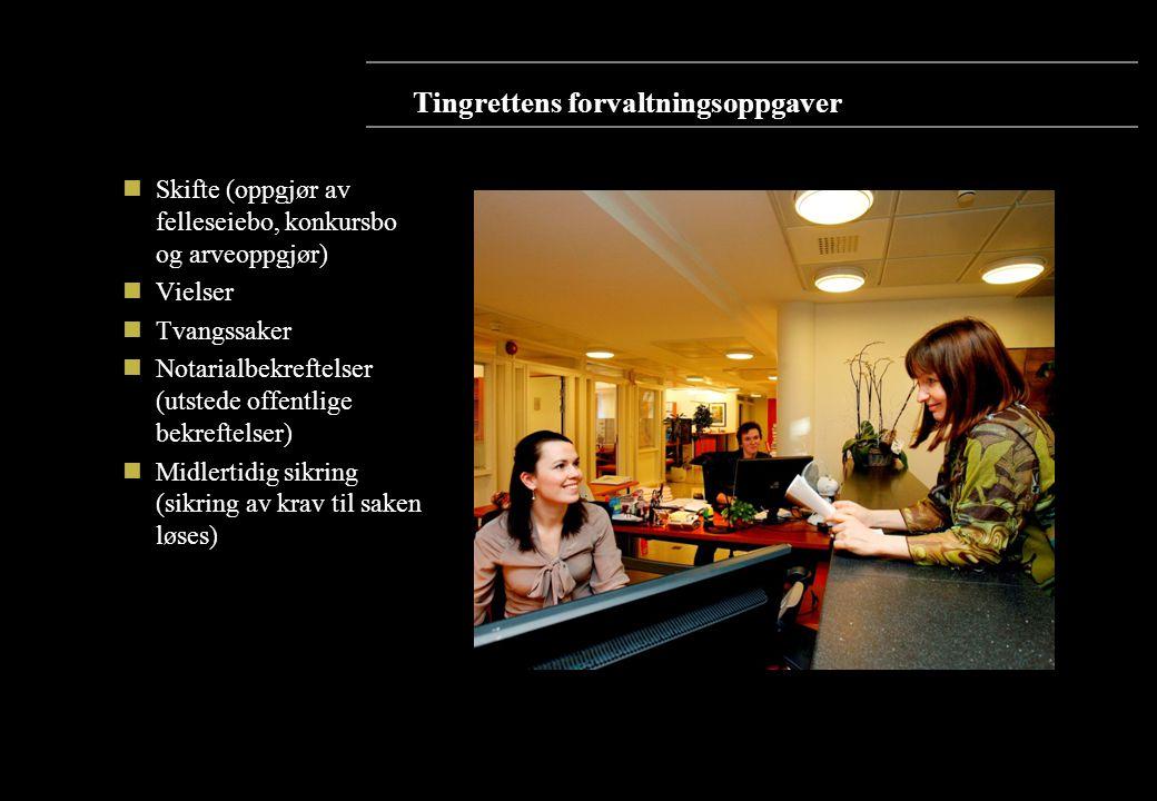 Tingrettens forvaltningsoppgaver