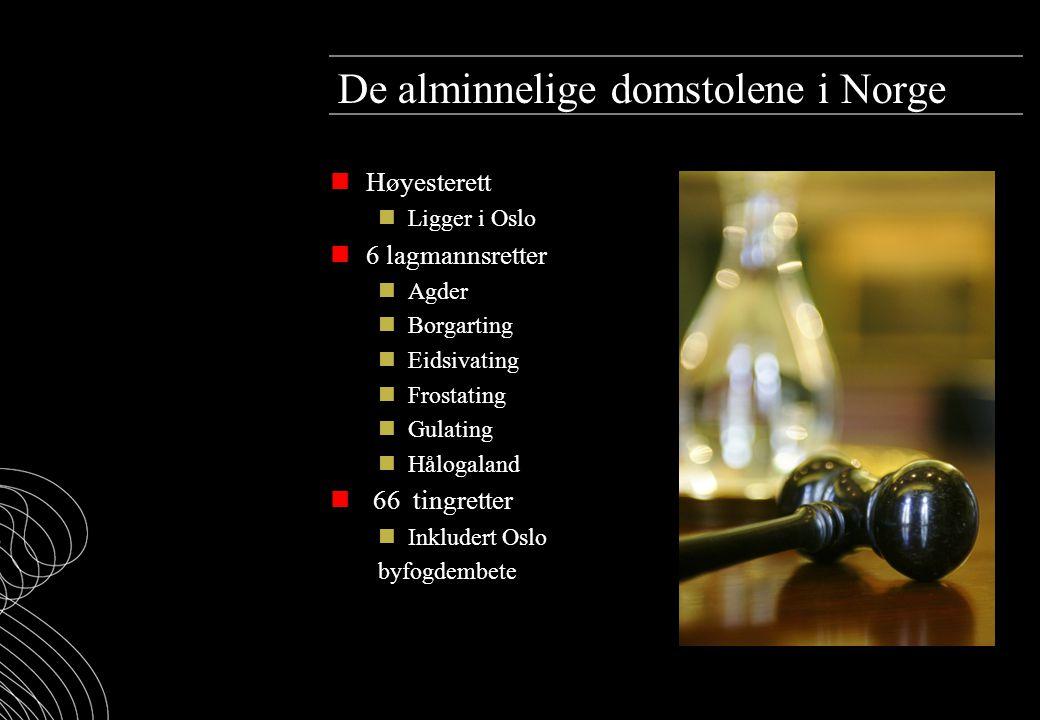De alminnelige domstolene i Norge