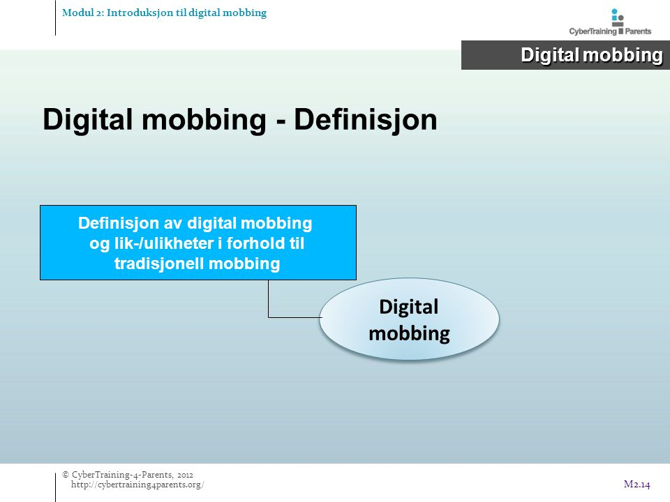 Definisjon av digital mobbing og lik-/ulikheter i forhold til