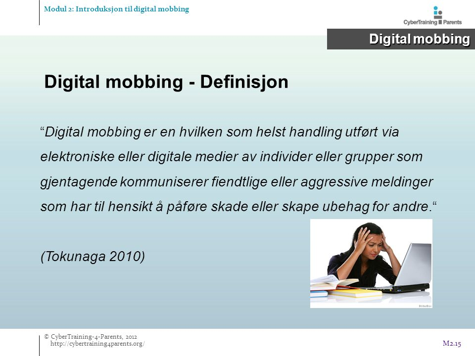 Digital mobbing - Definisjon