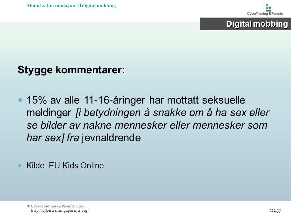 Modul 2: Introduksjon til digital mobbing