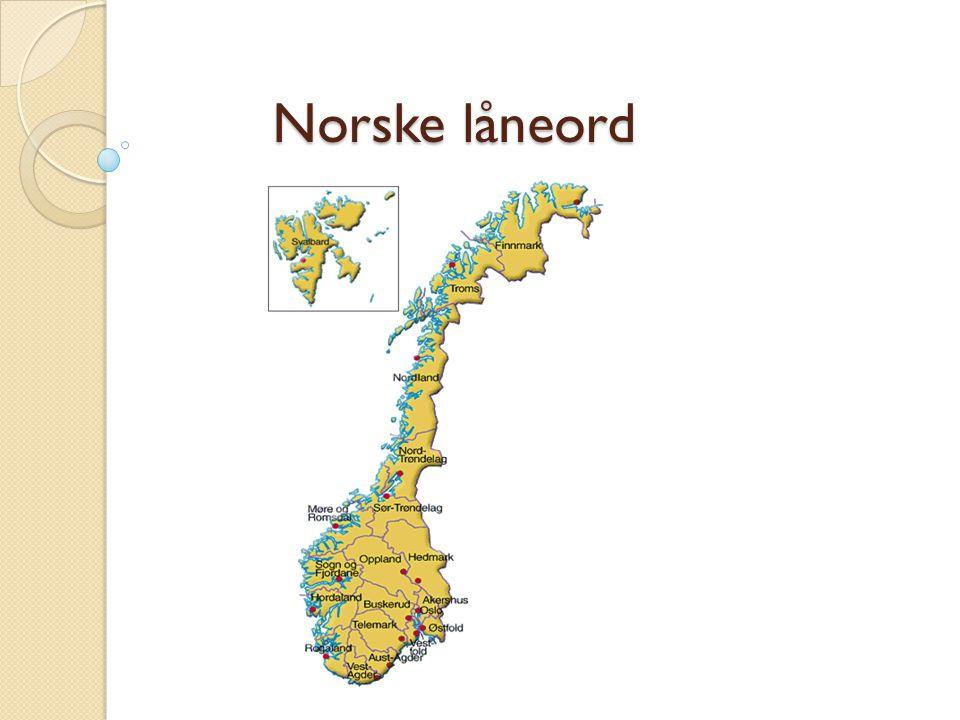Norske låneord