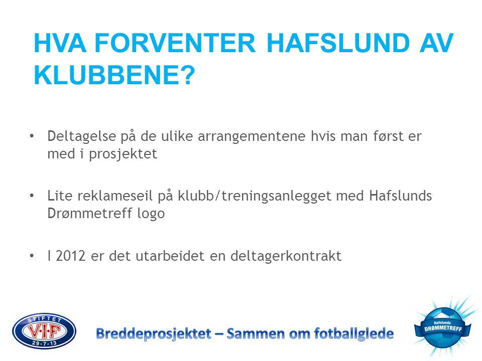 HVA FORVENTER HAFSLUND AV KLUBBENE