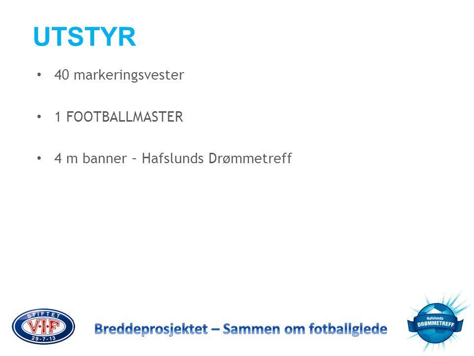 UTSTYR 40 markeringsvester 1 FOOTBALLMASTER
