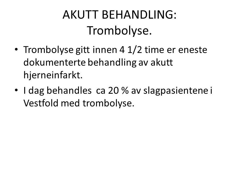 AKUTT BEHANDLING: Trombolyse.