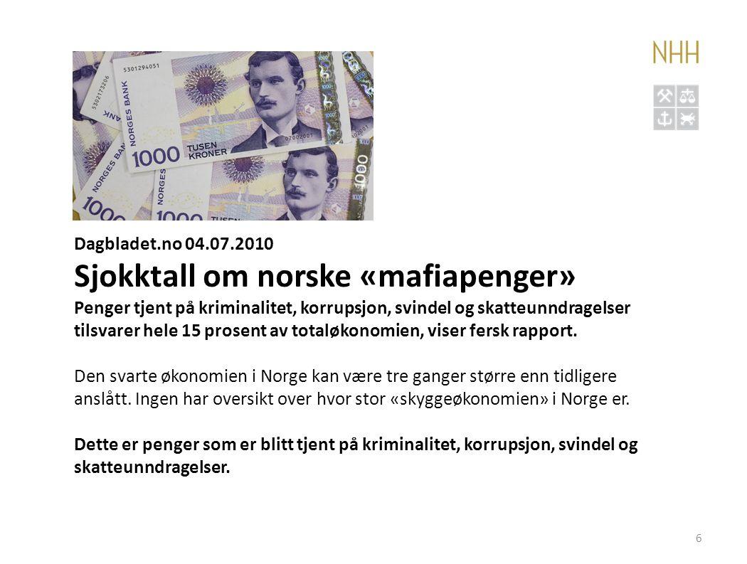 Sjokktall om norske «mafiapenger»
