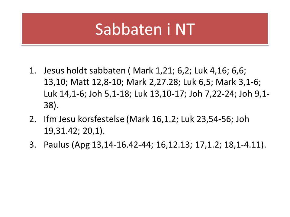 Sabbaten i NT