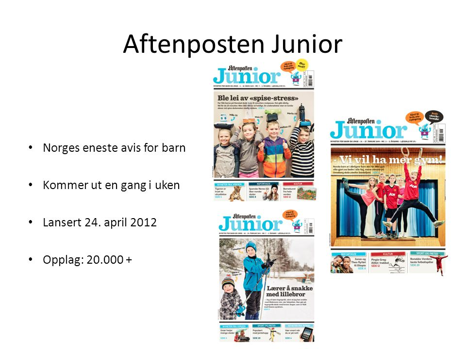 Aftenposten Junior Norges eneste avis for barn
