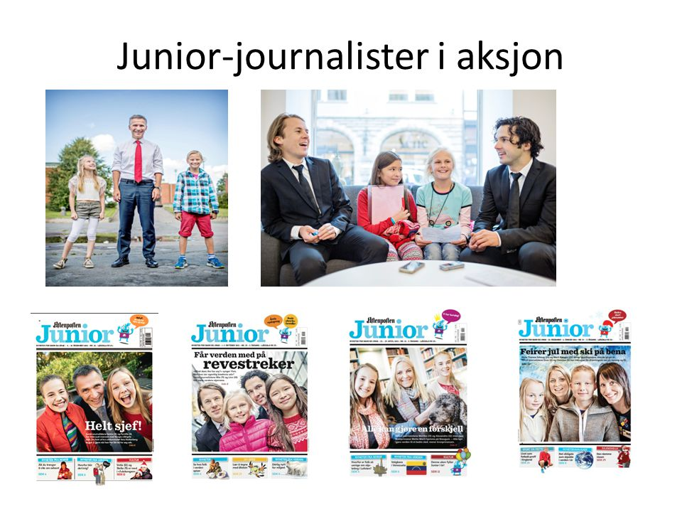 Junior-journalister i aksjon