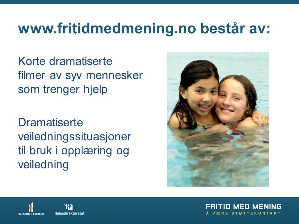 www.fritidmedmening.no består av: