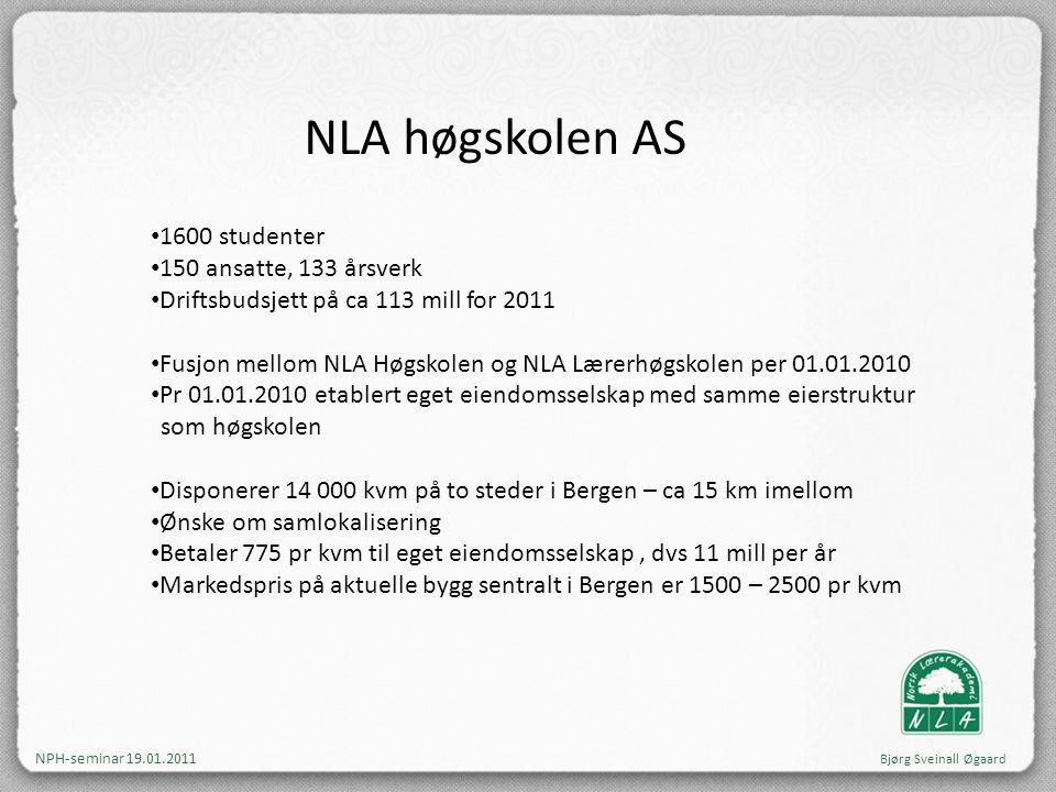 NLA høgskolen AS 1600 studenter 150 ansatte, 133 årsverk