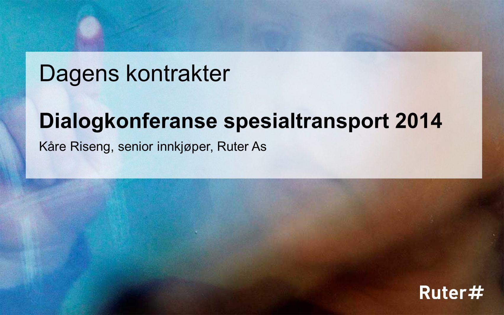 Dialogkonferanse spesialtransport 2014