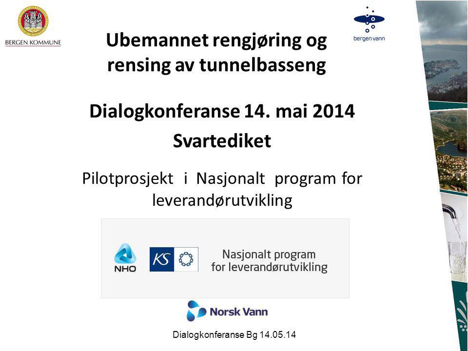 Ubemannet rengjøring og rensing av tunnelbasseng