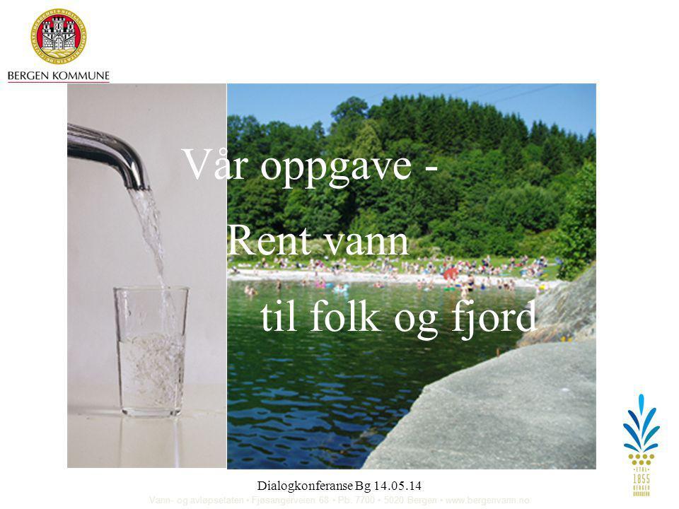 Vår oppgave - Rent vann til folk og fjord Dialogkonferanse Bg 14.05.14