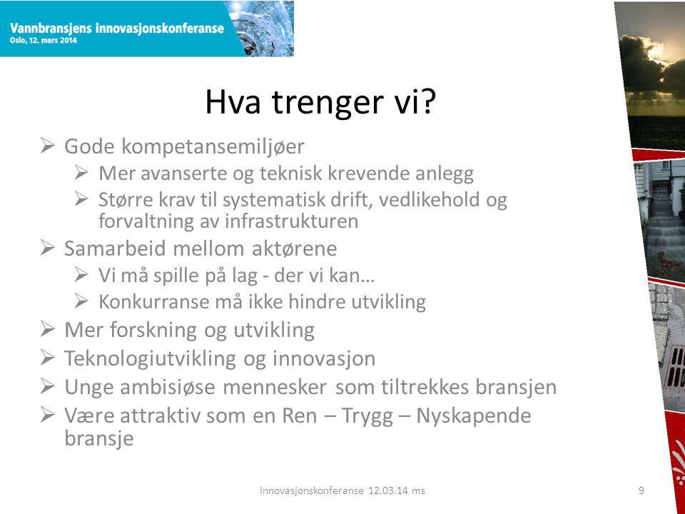 Innovasjonskonferanse 12.03.14 ms