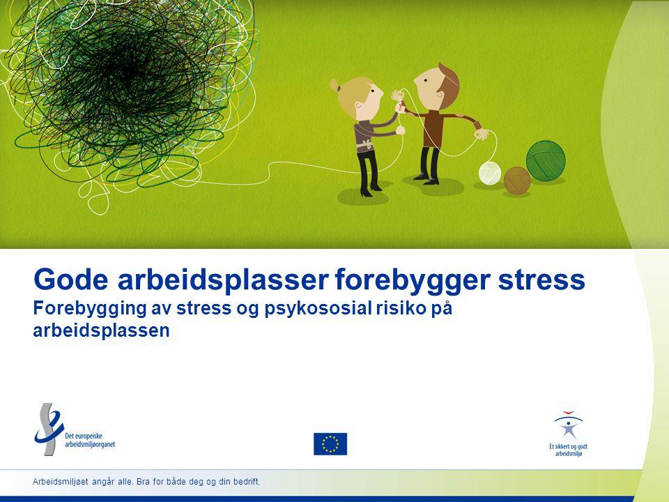 Gode arbeidsplasser forebygger stress Forebygging av stress og psykososial risiko på arbeidsplassen