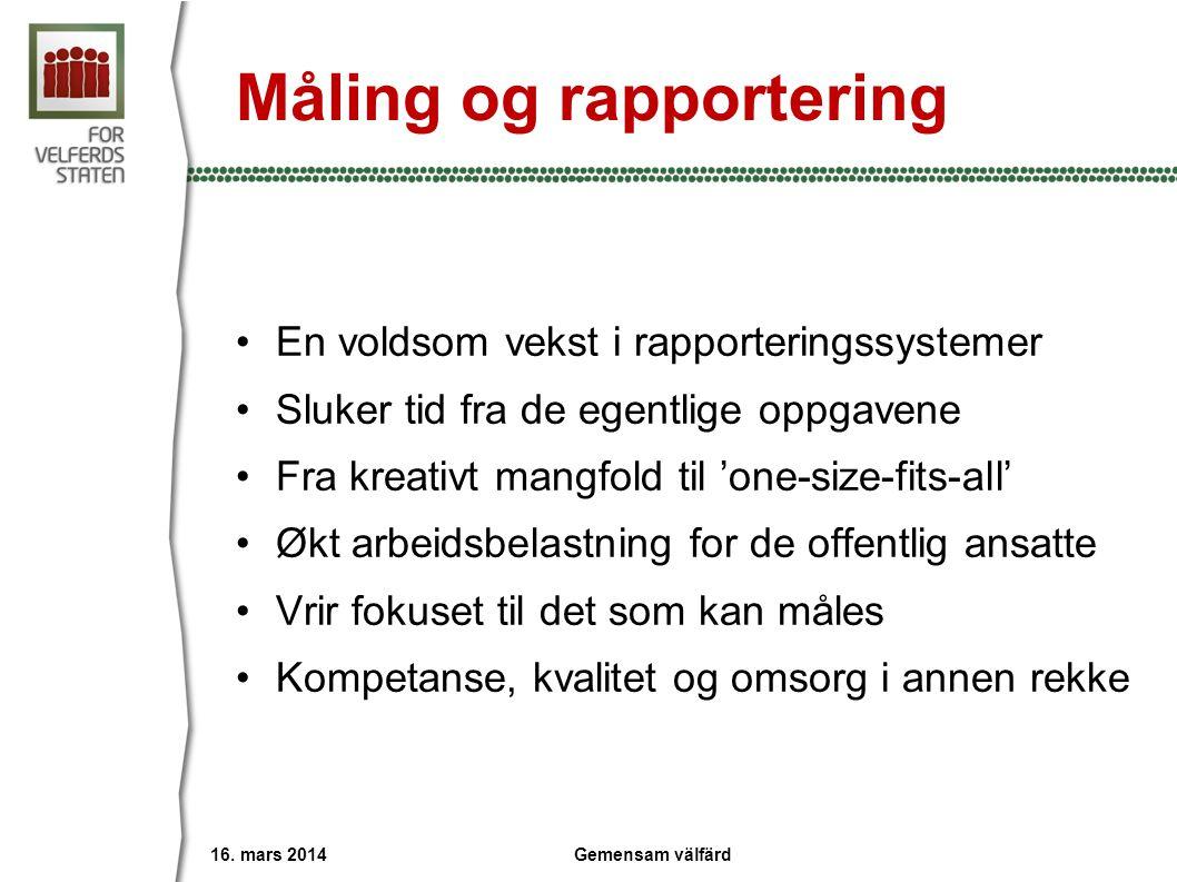 Måling og rapportering