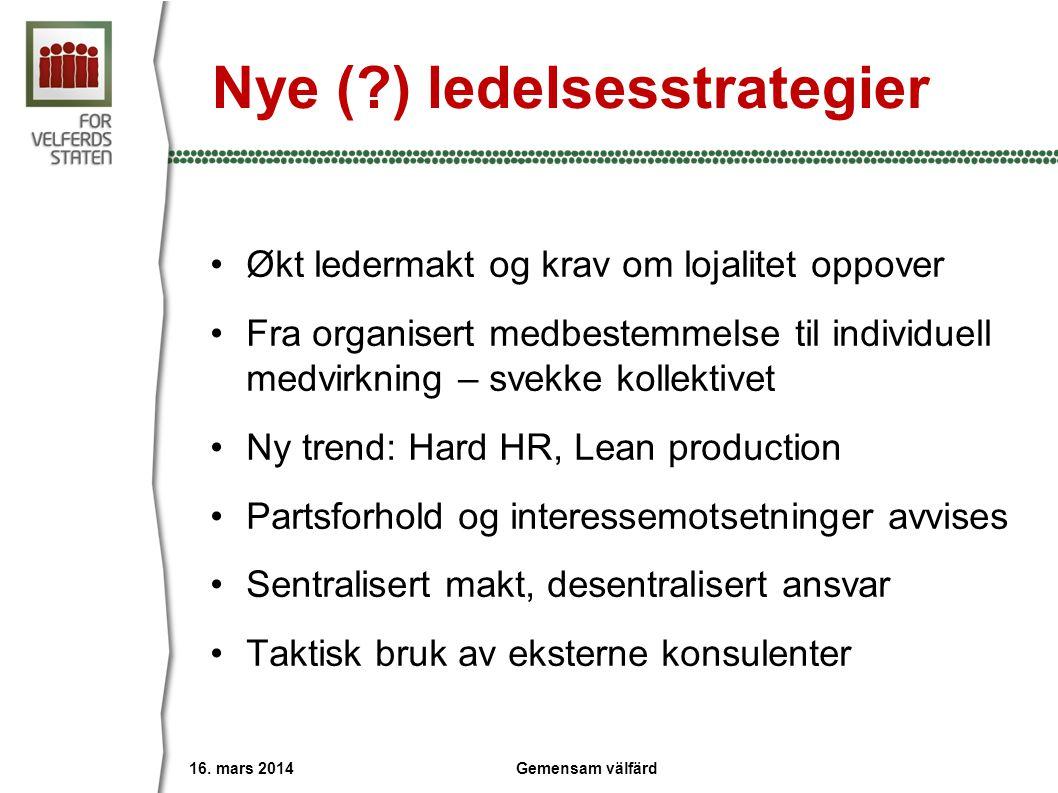 Nye ( ) ledelsesstrategier