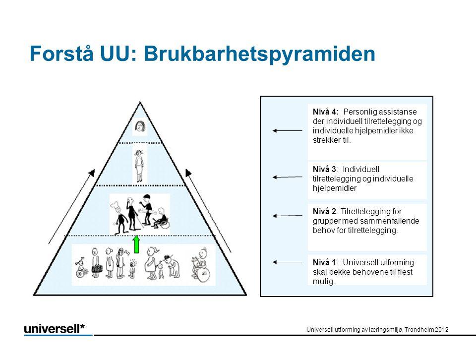 Forstå UU: Brukbarhetspyramiden