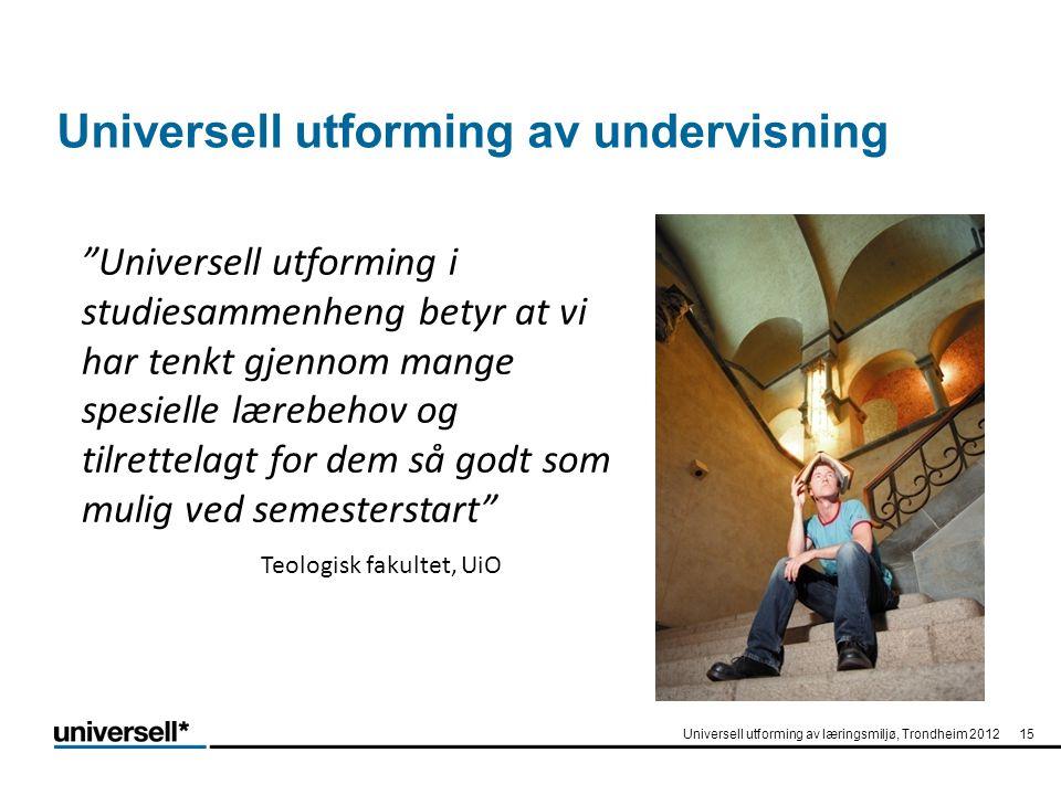 Universell utforming av undervisning