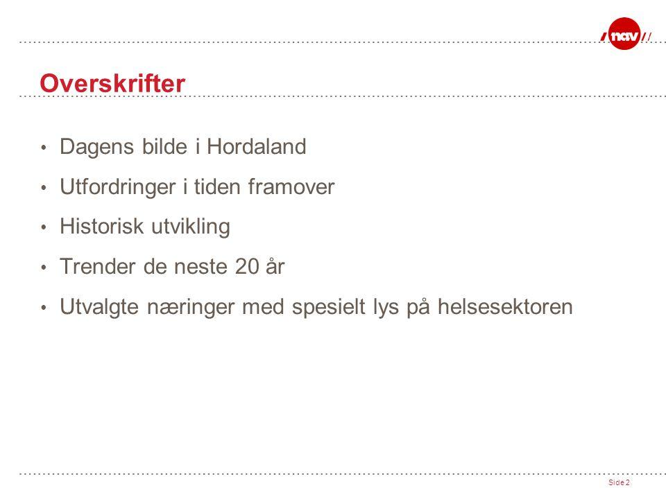 Overskrifter Dagens bilde i Hordaland Utfordringer i tiden framover