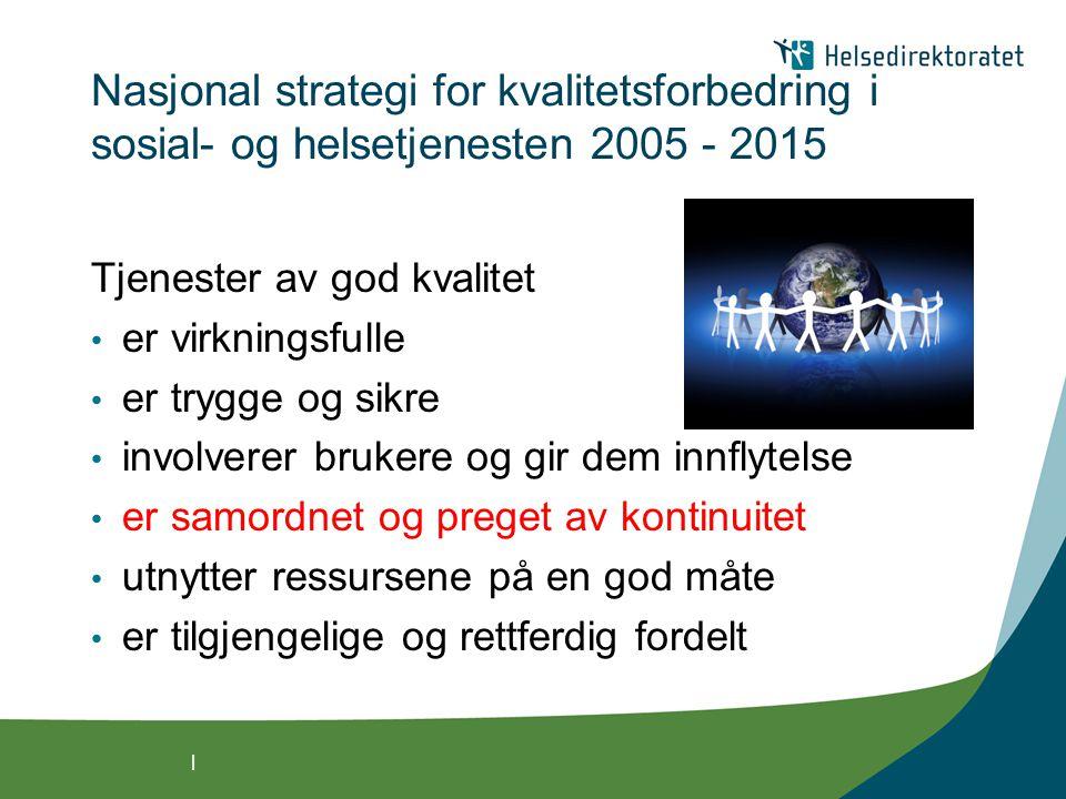 Nasjonal strategi for kvalitetsforbedring i sosial- og helsetjenesten 2005 - 2015
