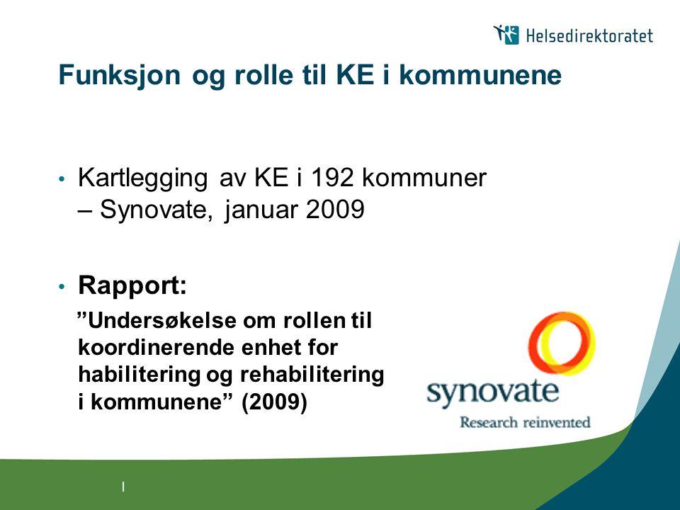 Funksjon og rolle til KE i kommunene