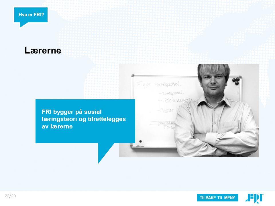 Lærerne FRI bygger på sosial læringsteori og tilrettelegges av lærerne