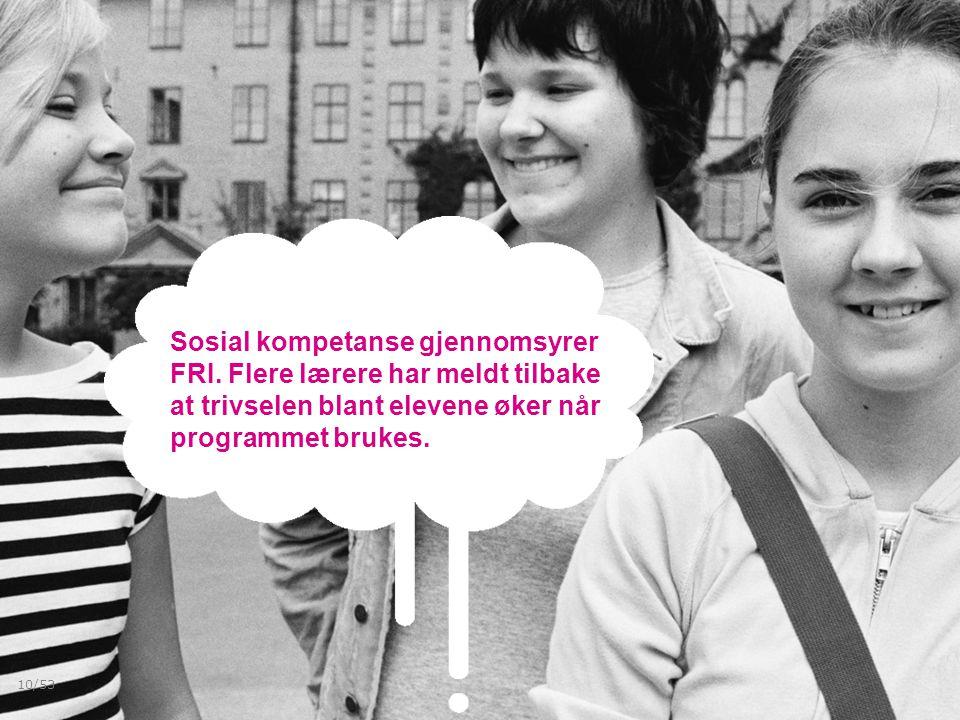 Sosial kompetanse gjennomsyrer FRI