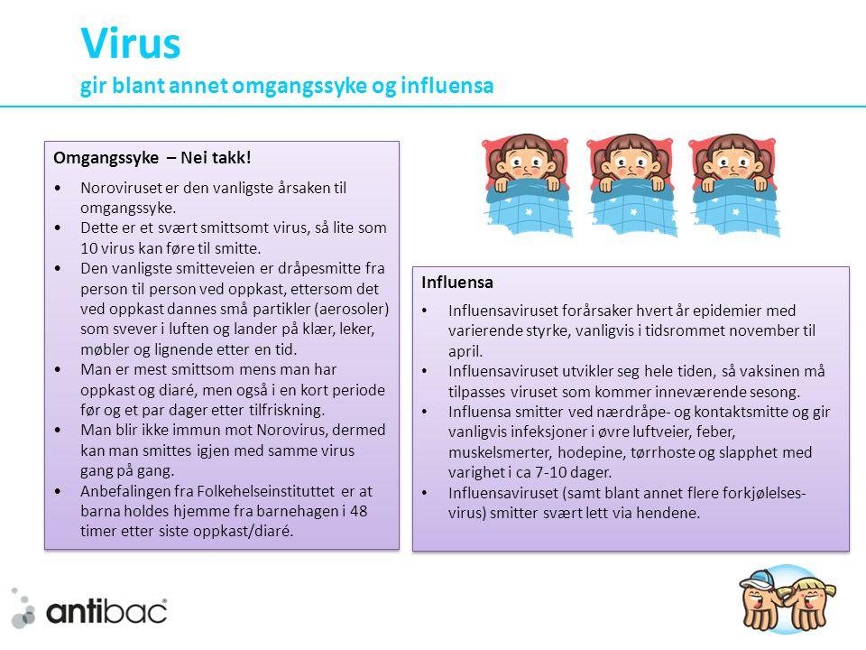 Virus gir blant annet omgangssyke og influensa