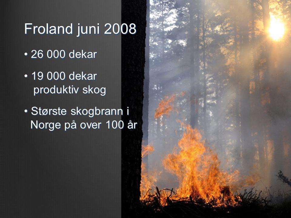 Froland juni 2008 26 000 dekar 19 000 dekar produktiv skog