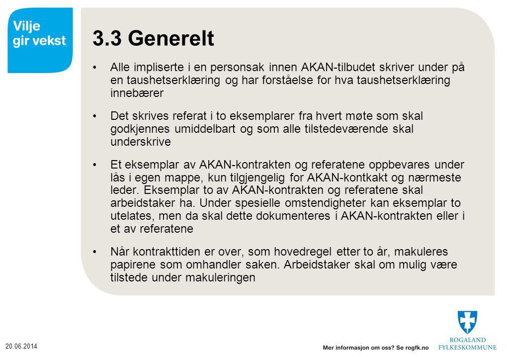 3.3 Generelt