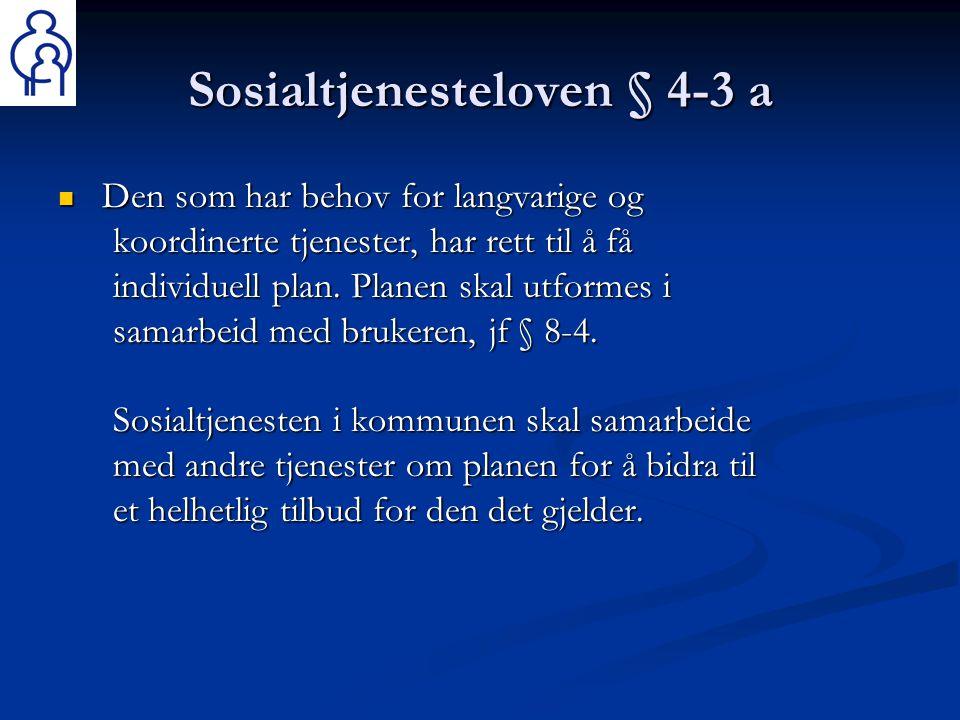 Sosialtjenesteloven § 4-3 a