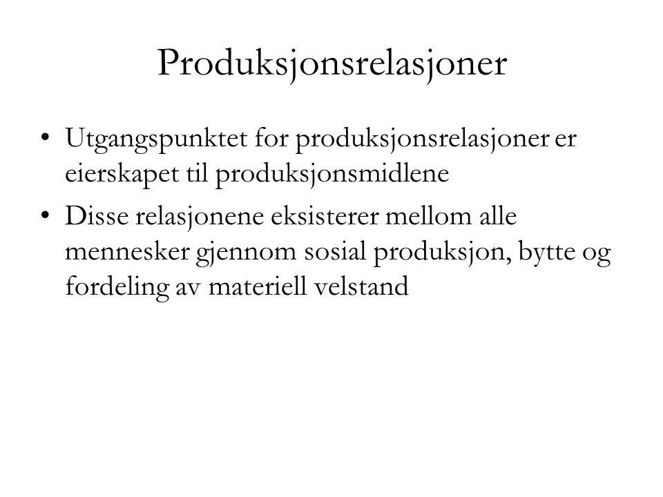Produksjonsrelasjoner