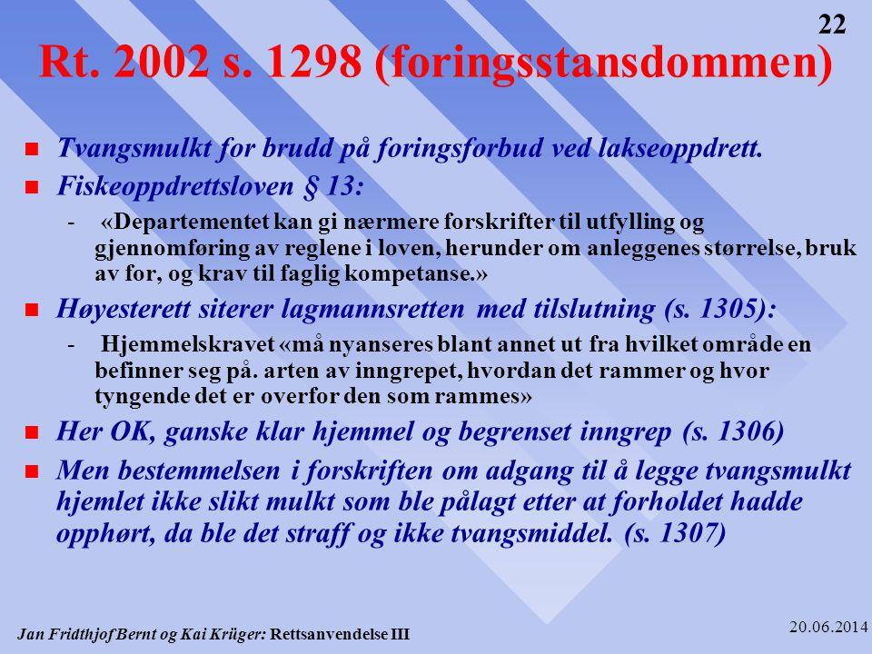 Rt. 2002 s. 1298 (foringsstansdommen)