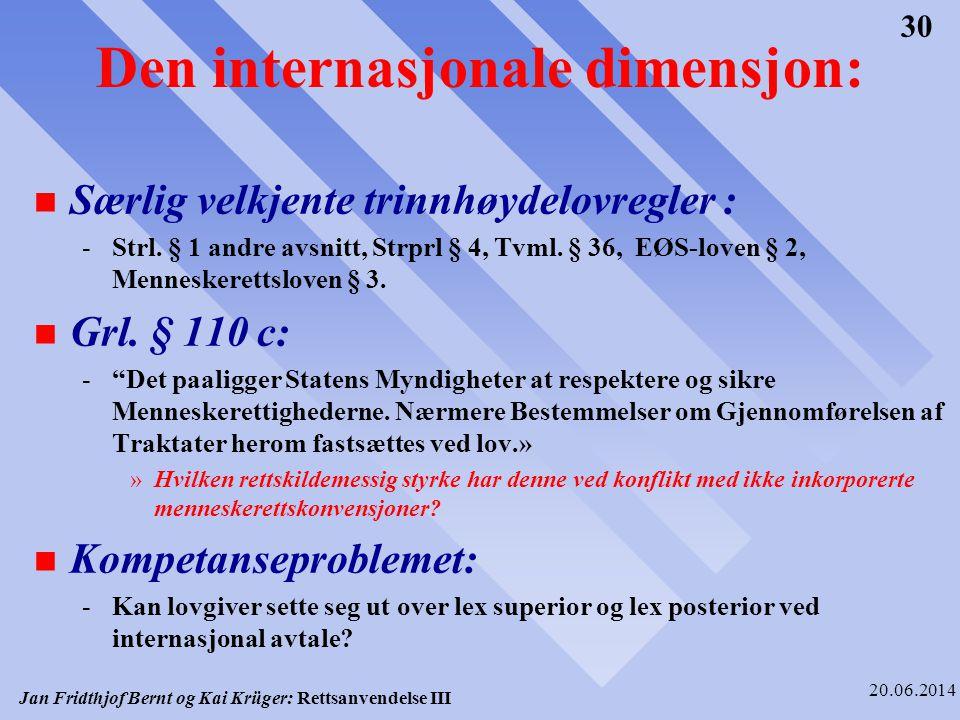 Den internasjonale dimensjon: