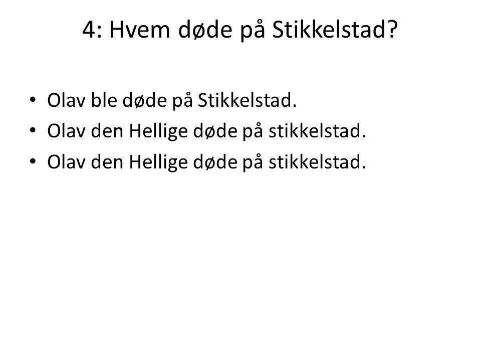 4: Hvem døde på Stikkelstad