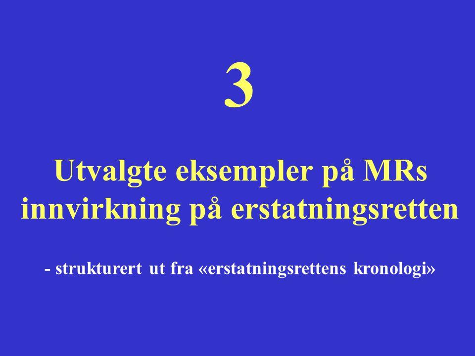 3 Utvalgte eksempler på MRs innvirkning på erstatningsretten
