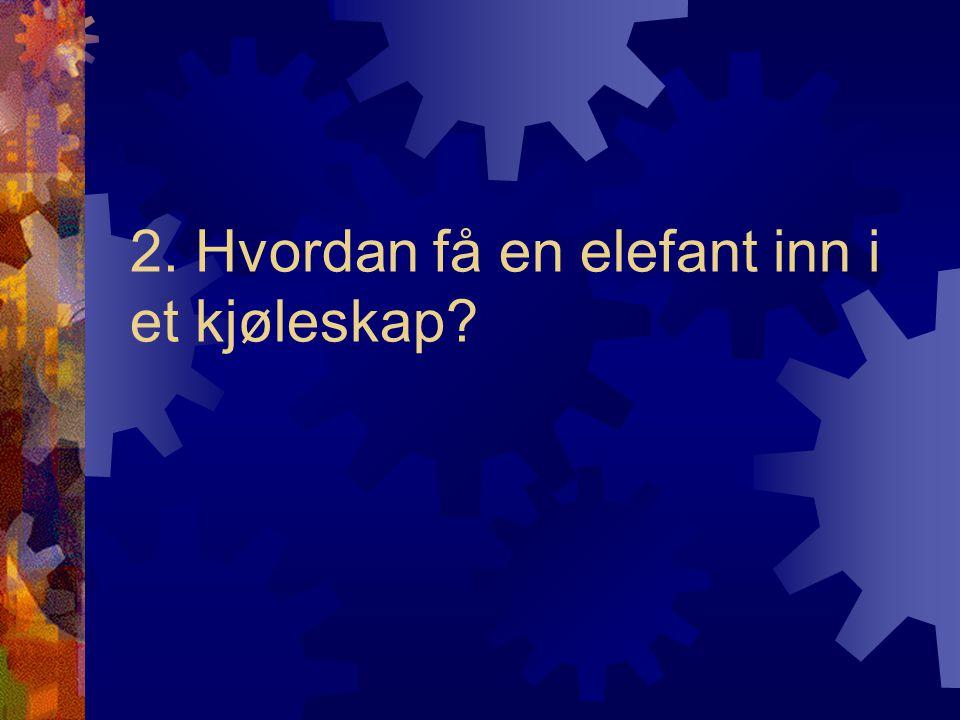 2. Hvordan få en elefant inn i et kjøleskap