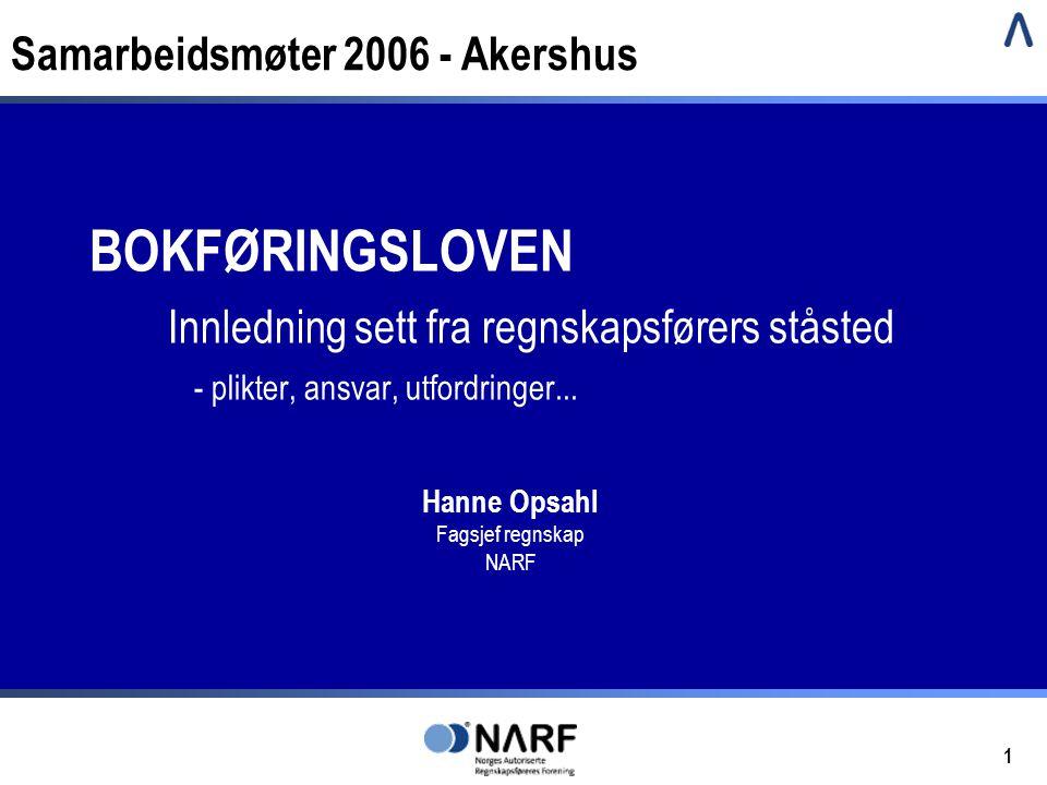 Hanne Opsahl Fagsjef regnskap NARF