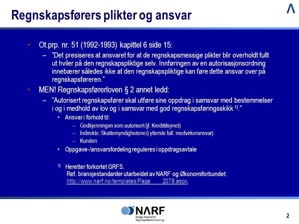 Regnskapsførers plikter og ansvar
