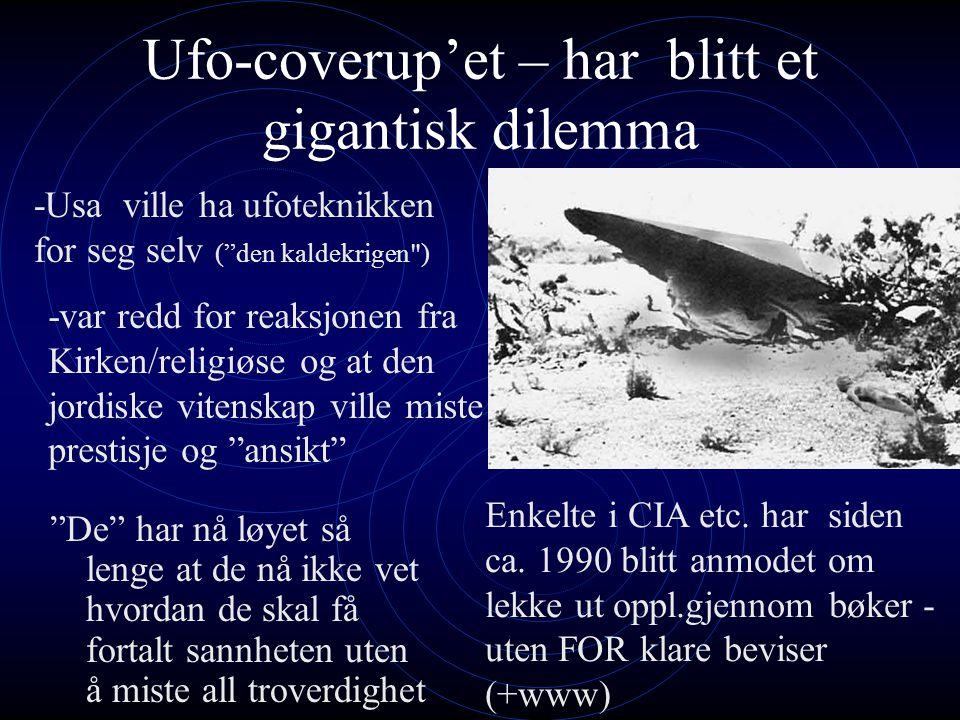Ufo-coverup'et – har blitt et gigantisk dilemma