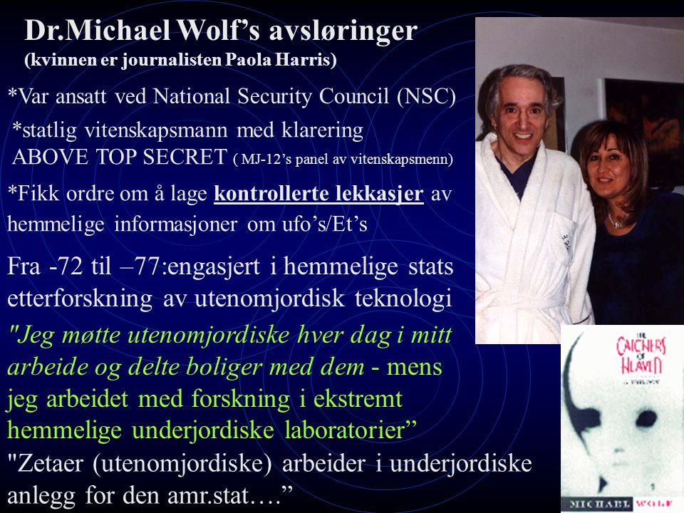 Dr.Michael Wolf's avsløringer