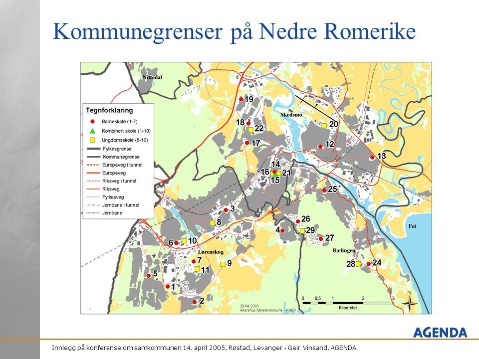 Kommunegrenser på Nedre Romerike