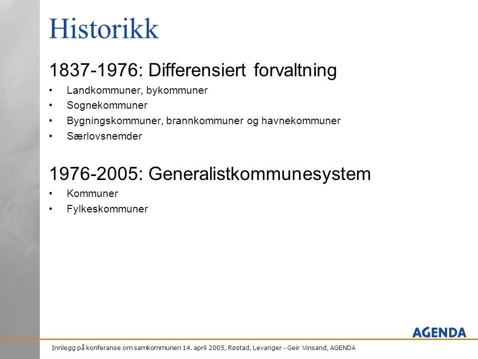 Historikk 1837-1976: Differensiert forvaltning