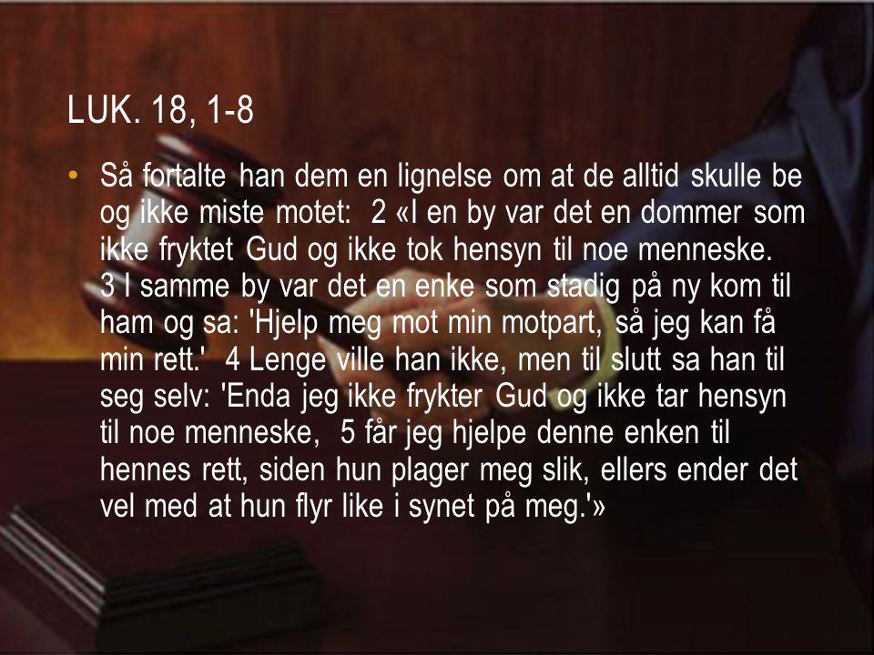 Luk. 18, 1-8
