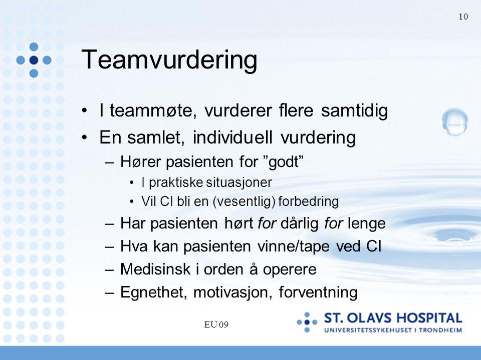 Teamvurdering I teammøte, vurderer flere samtidig