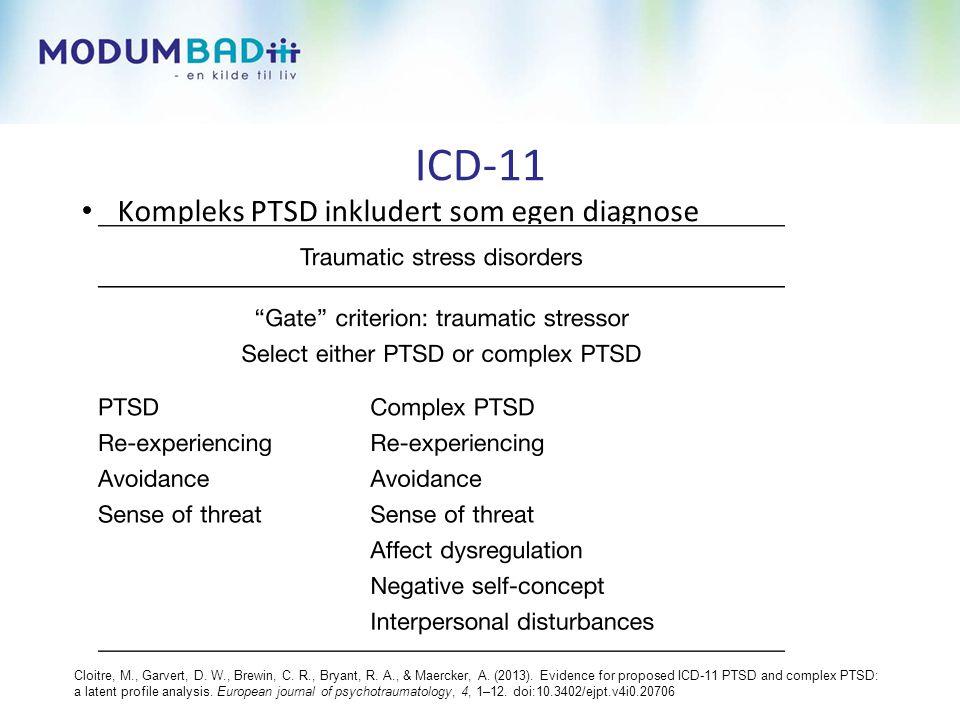 ICD-11 Kompleks PTSD inkludert som egen diagnose
