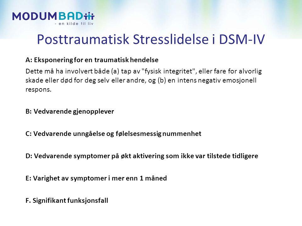 Posttraumatisk Stresslidelse i DSM-IV