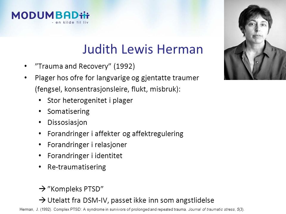 Judith Lewis Herman Trauma and Recovery (1992)